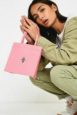 New Urban Outfitters Pink Robot Embroidery Mini Canvas Tote Gift Bag - £12 Tags • 4.49£