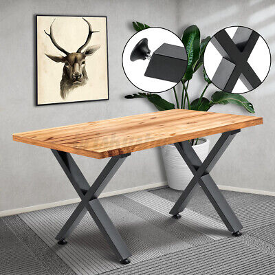 £35.54 • Buy Set Of 2 Industrial Metal Table Legs X Shape Base For Dining/Coffee Table/Bench