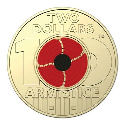 AU13.95 • Buy 🥇Rare🥇2018 Australian Two Dollar $2 Coin - ARMISTICE RED POPPY💰Uncirculated