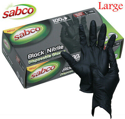 AU29.95 • Buy 100 X INDUSTRIAL BLACK DISPOSABLE NITRILE GLOVES THICK RUBBER MEDICAL PROTECTION