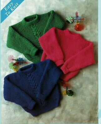 £1.89 • Buy Baby Childrens Classic Fishermans Rib Jumpers Double Knit Knitting Pattern 626