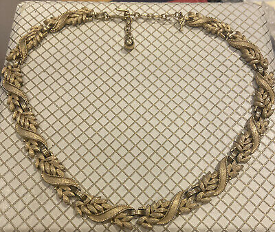 VINTAGE JEWELLERY BEAUTIFUL TRIFARI GOLD PLATED NECKLACE Uk P/p Included • 45£
