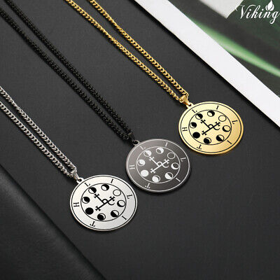$ CDN8.46 • Buy Wicca Lilith Sigil Of Night&Moon Demon Goddess Pendant Amulet Necklace Jewelry