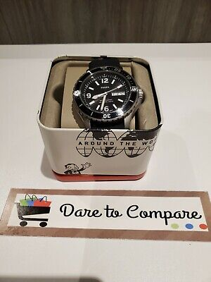 $ CDN69.99 • Buy Authentic Fossil Men's FB-02 Three-Hand Date Black Silicone Watch FS5689