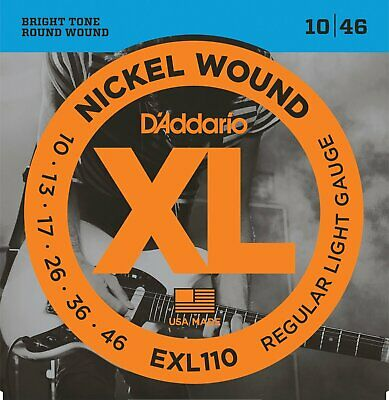 $ CDN12.78 • Buy Daddario Exl110 10-46 Electric Guitar Strings