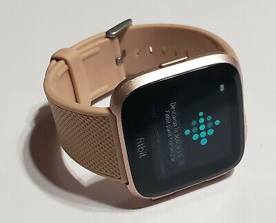 $ CDN72.93 • Buy Fitbit Versa Fitness Smartwatch -Rose Gold Wth GENERIC Brown Rubber Band -REFURB