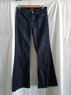 AU58 • Buy 7 Seven For All Mankind Ginger Blue  Flared Jeans Size 29 Made In USA