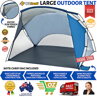 AU78.89 • Buy 4-Person Large Tent Outdoor Beach Camping Picnic Hiking Shade Canopy Gazebo Kids