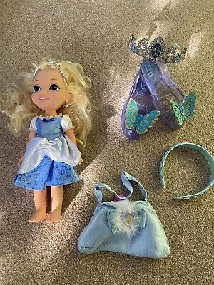 Cinderella Bundle - Doll, Tiara, Headband, Bag & Shoes • 5£