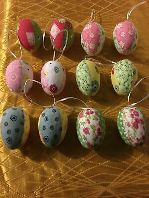 Gisela Graham Patchwork Easter Egg Decorations • 10£