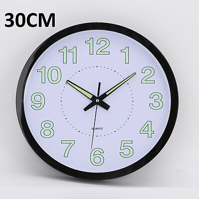AU13.09 • Buy Living Room Wall Clock Night Light Classic Simple Round Clock 12 Inch