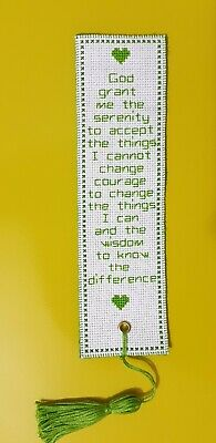Handmade Lovely Cross Stitch Bookmark Finished Gift • 8.50£