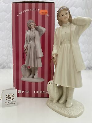 "Sbl Regal House Collection Gemma Porcelain Figurine P123 10""tall With Box Used • 0.99£"