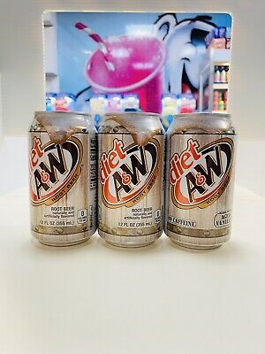 A&W Diet Root Beer X 3 Cans 355ml USA Import • 7.50£