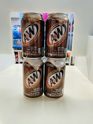 A&W Root Beer X 4 Cans 355ml USA Import • 10£