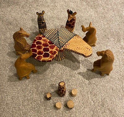 Handmade Carved African Tea Party • 10£