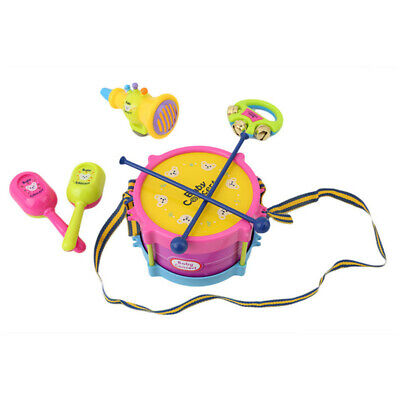 Kids Drum Trumpet Toy Music Percussion Instrument Early Educational Toy TO • 5.65£