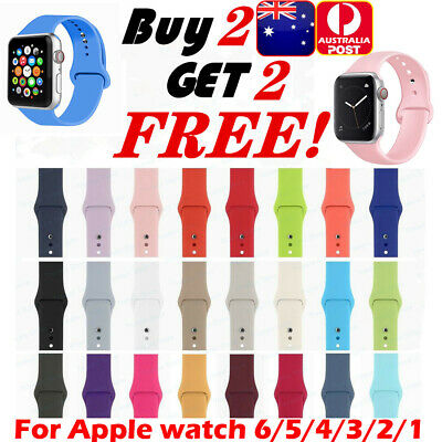 AU12.99 • Buy Silicone Band Strap For Apple Watch 1/2/3/4 IWatch Sports Series 38/42/40/44mm
