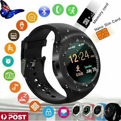 AU18.90 • Buy Y1 Smart Watch SIM Camera Wristwatch Waterproof For IPhone Samsung Android Phone