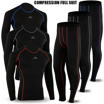 Winter Thermal Mens Compression Base Layer Under Full Suit Tights Pant Shirt Set • 19.99£
