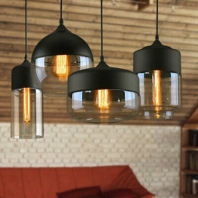 Modern Vintage Ceiling Light Pendant Chandelier Industrial Loft Glass Lamp Shade • 31.98£