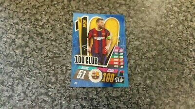 Match Attax 2020/21 Cl9 Lionel Messi Hundred 100 Club Mint • 3.75£