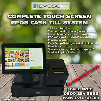 Brand New Touch Screen POS EPOS Cash Till System - NO MONTHLY FEES • 259.99£