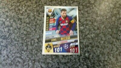 Match Attax 101 2019/20 W1 Lionel Messi World Star Hundred 100 Club 101 Mint  • 5.95£