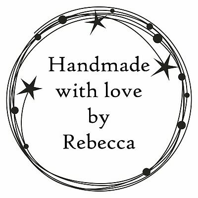£8.95 • Buy Personalised Handmade By Rubber Stamp Bespoke With Your Name And Stars Design