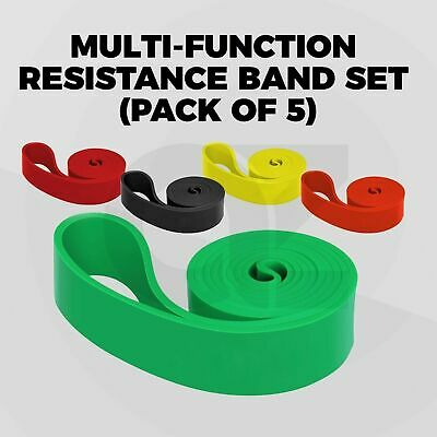 AU20 • Buy Resistance Bands Heavy Duty For Home Gym Yoga Abs Workout Strength (Set Of 5)