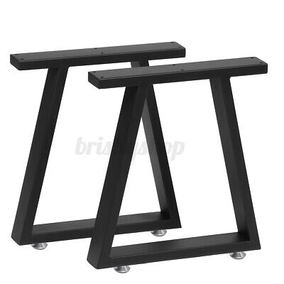 2PCS Industrial Table Legs Steel Metal Trapezium For Dining/Bench/Office/Desk UK • 32.99£