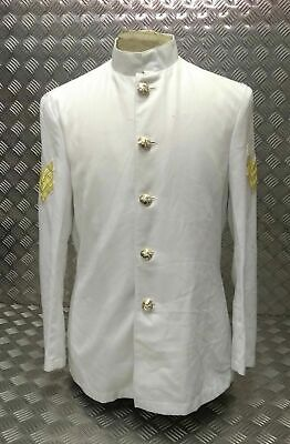 British RAF Military No6A White Ceremonial Bandsman Jacket - Tunic & Buttons • 42.25£
