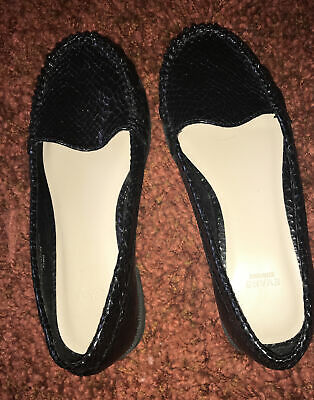 Ladies Black Slip On Shoes Size 4 Wide By Evans • 7£
