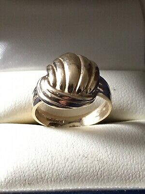 9ct Gold Knot Ring Size J  3.40 Grams Not Scrap • 69.95£