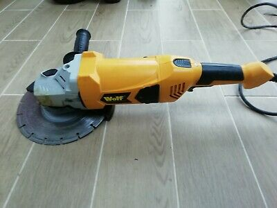 Wolf Angle Grinder 230mm 9  Electric 230v Corded With Diamond Disc • 22£