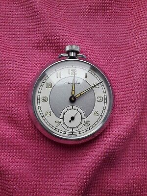 RUHLA UMF WWII Manual Winding Pocket Watch GDR Germany V/GOOD CONDITION  • 10.50£