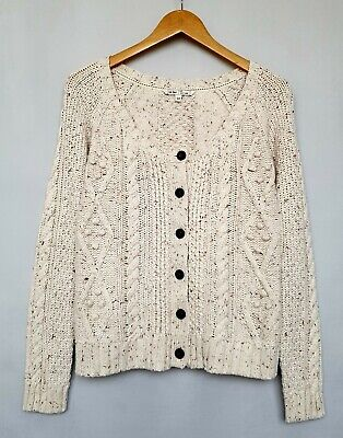 Fat Face Women's Aran Style Cable Knit Cardigan Size 10 • 34.99£
