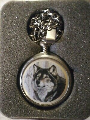 $9.50 • Buy Al Agnew Majestic Encounters Exclusive Edition Wolf Pocket Watch W/case
