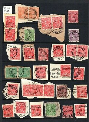 AU19.95 • Buy AUSTRALIA - KGV 1d To 2d MELB Postmark Collection, Shades, Papers - See Scan