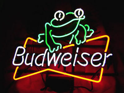 $ CDN158.44 • Buy New Budweiser Frog Pub Beer Bar  Man Cave Neon Light Sign 17 X14