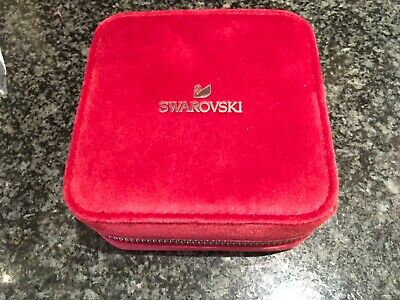 Beautiful Genuine Swarovski Red Travel Jewellery Box • 17.50£