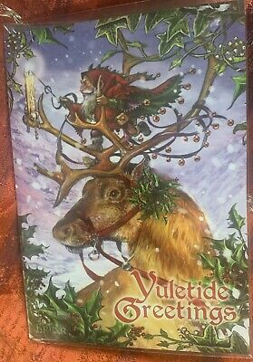Guided By The Northern Lights  Pagan Wicca Alternative Card Yule Christmas BRIAR • 2.99£