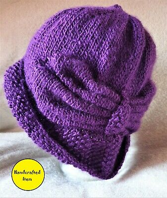 Ladies Knitted Hat, Brand New, Vintage 1920's Style, Art Deco Inspired Fashion • 24.99£