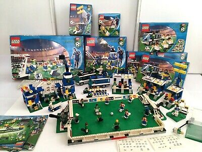 Lot Lego Football Championship Sport - 8 Boxset = 39 Figures With 8 Boxes - 2000 • 36.02£
