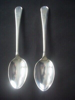 2 Vintage Silver Plated Dessert Spoons ~old English Pattern ~7  • 3.99£