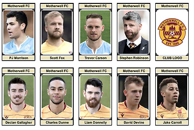 108 - MOTHERWELL FC :  (SP) 2020/21 SQUAD  : 30 Trading Cards • 6£