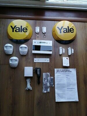 Yale Easy Fit Touch Screen Alarm System EF-Panel  + Additional Accessories. • 72£