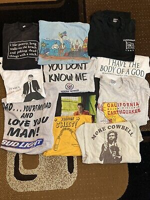 $ CDN9.12 • Buy Vintage 90s T Shirt Lot Bundle 11 Pieces Will Ferell Movie Music