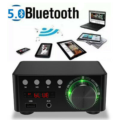 100W Digital Power Stereo Audio Amplifier Bluetooth Integrated Amp Amplifier • 25.38£