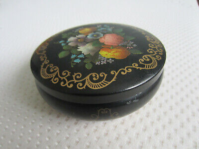Collectable Vintage Empty M&S Empty Black Floral Sweet Tin • 1.60£